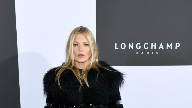Kate Moss bei der Longchamp Fashion Show 2019