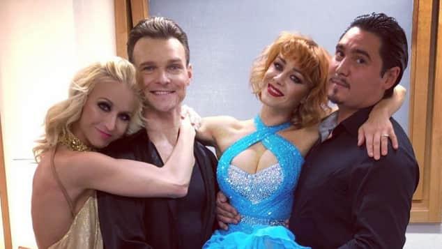 Kathrin Menzinger, Vadim Garbuzov, Oana Nechiti und Erich Klann Let's Dance
