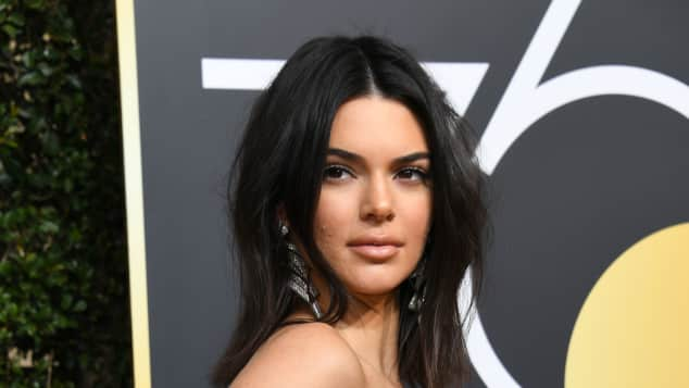 "Kendall Jenner bei den Golden Globes 2018, ""Keeping up with the Kardashian"""