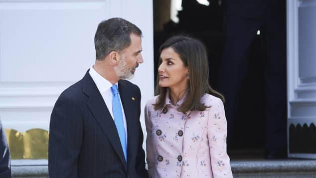 König Felipe und Königin Letizia von Spanien bei einem Auftritt am Mittwoch