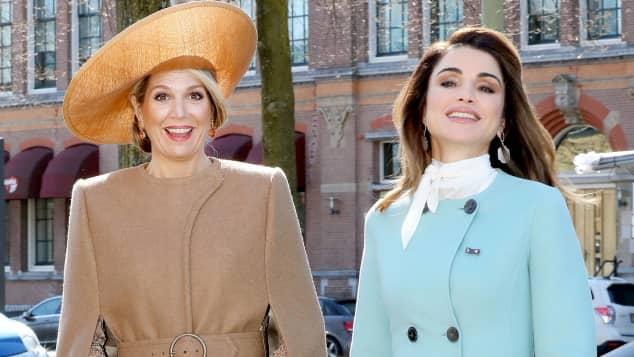 Königin Maxima und Königin Rania legen einen schicken Auftritt hin