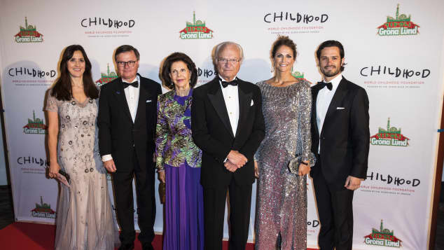 Königin Silvia König Carl Gustaf Prinzessin Madeleine Prinz Carl Philip World Childhood Foundation