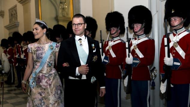 Kronprinzessin Victoria von Schweden und Prinz Daniel feierten zusammen mit Kronprinz Frederik von Dänemark seinen 50. Geburtstag