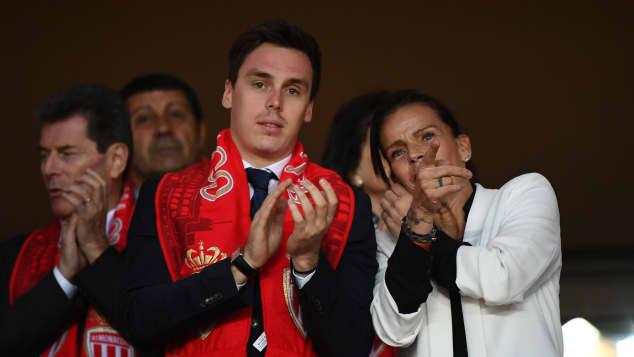Louis und Stéphanie von Monaco bei einem Spiel des AS Monaco
