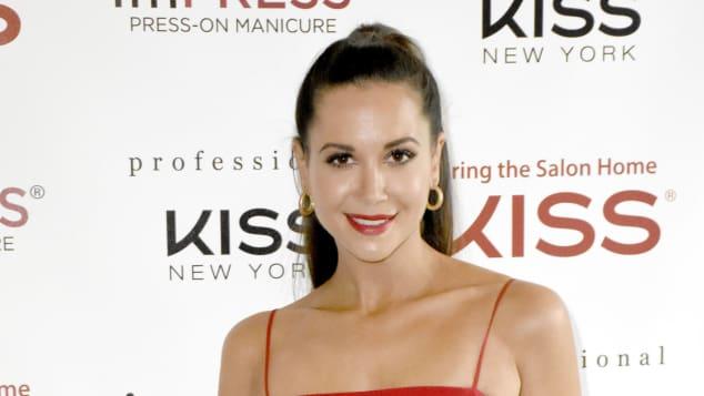 Mandy Grace Capristo bei der Vorstellung einer Kosmetikmarke in München