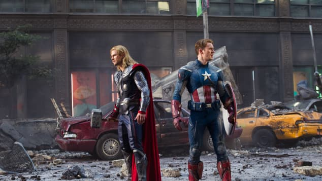 """Thor"" und ""Captain America"" in ""Marvels The Avengers"""