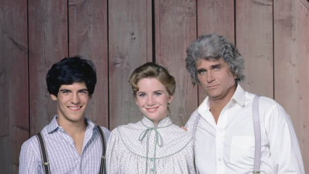Matthew Layorteaux, Melissa Gilbert and Michael Landon in 1982.