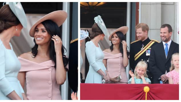 The Duchess of Sussex during Trooping The Colour in London 2018 looks fabulous in one of the best royal looks of the year 2018