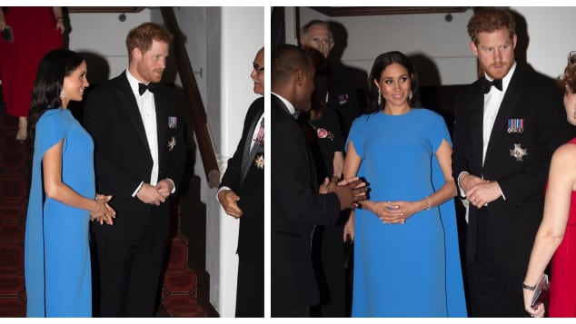 The Duke and Duchess of Sussex attend a state dinner in Fiji