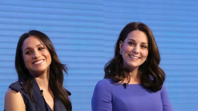 Meghan Markle und Herzogin Kate bei ihrem ersten gemeinsamen offiziellen Auftritt in London
