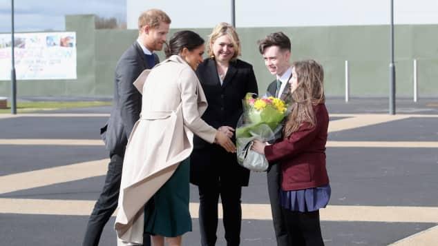 Meghan Markle und Prinz Harry, Meghan Markle und Prinz Harry in Belfat, Meghan Markle und Prinz Harry süß