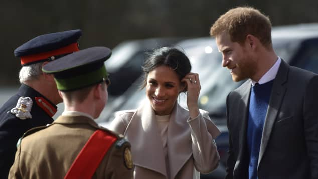 Duchess Meghan and Prince Harry in Belfast