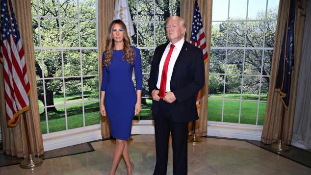 Die Melania-Trump-Wachsfigur neben der ihres Mannes Donald Trump