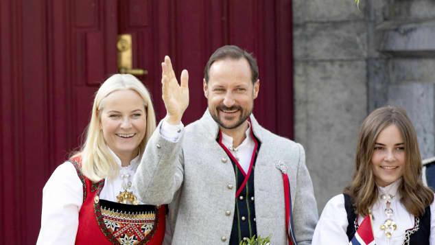 Kronprinzessin Mette Marit, Kronprinz Haakon und Prinzessin Ingrid Alexandra von Norwegen
