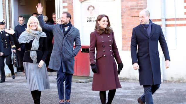 Mette Marit, Prinz Haakon, Herzogin Kate und Prinz William