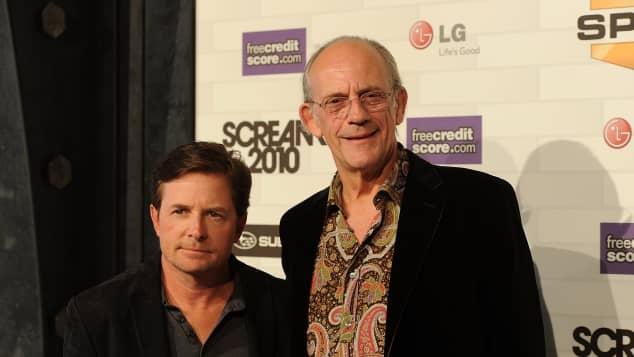 """Michael J. Fox und Christopher Lloyd spielten """"Marty McFly"""" und """"Doc Brown"""" in """"Zurück in die Zukunft"""""""