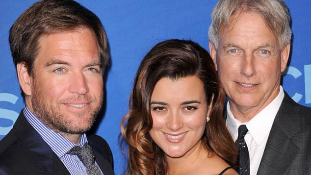 Michael Weatherly, Cote de Pablo and Mark Harmon on the CBS Red Carpet