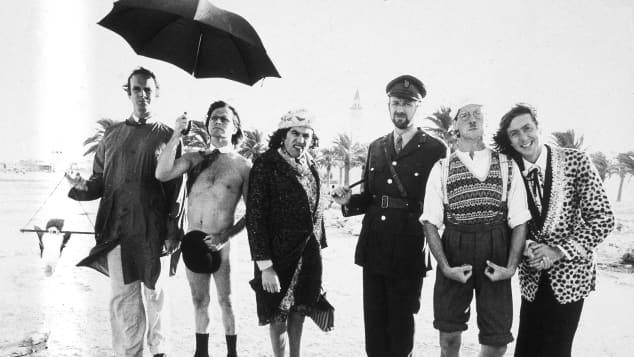 The Monty Python team on location in Tunisia to film Monty Python's Life of Brian