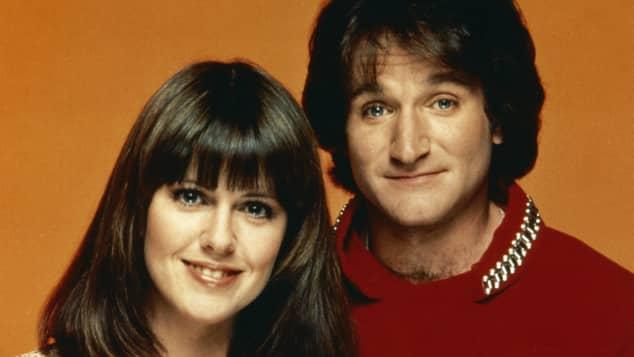 """Robin Williams und Pam Dawber waren in """"Mork im Ork"""" zu sehen"""