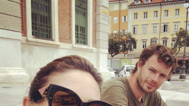 Nazan Eckes und Julian Khol im Urlaub