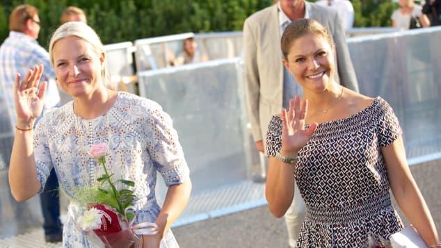 Prinzessin Mette-Marit und Prinzessin Victoria