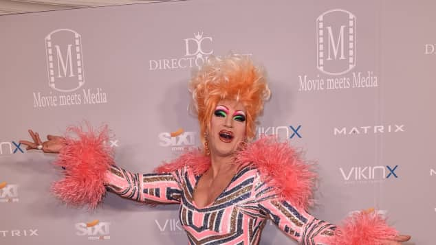 Drag Queen Olivia Jones bei der Movie Meets Media Party in Berlin