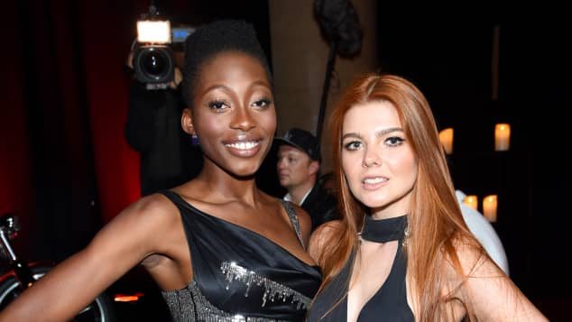 "Oluwatoniloba Dreher-Adenuga und Klaudia Anna Giez besuchten die amfAR-Gala, ""Germany's next Topmodel"", GNTM"