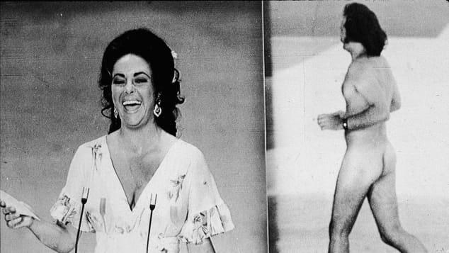 Elizabeth Taylor wurde bei den Oscars 1974 von einem Flitzer überrascht