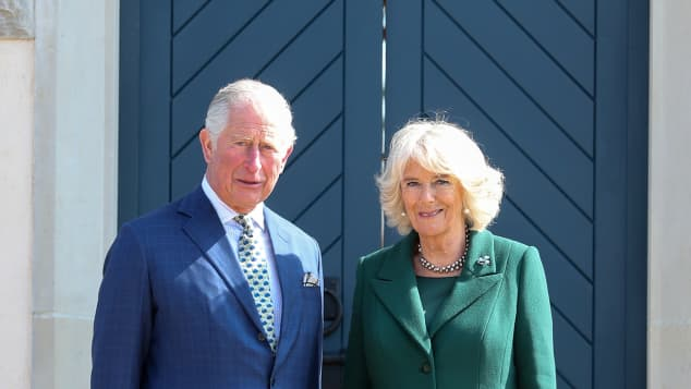 Charles and Camilla at the reopening if Hillsborough Castle in Belfast, Northern Ireland.