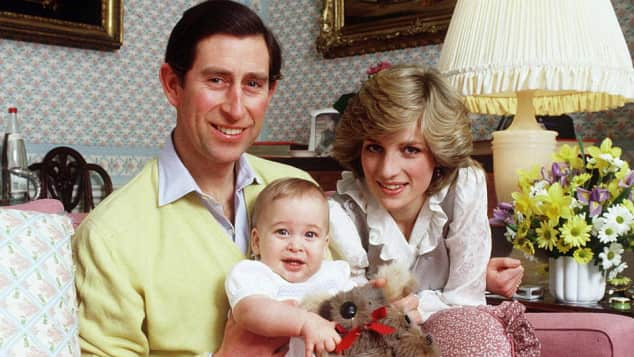 Prince Charles, Prince William and Princess Diana