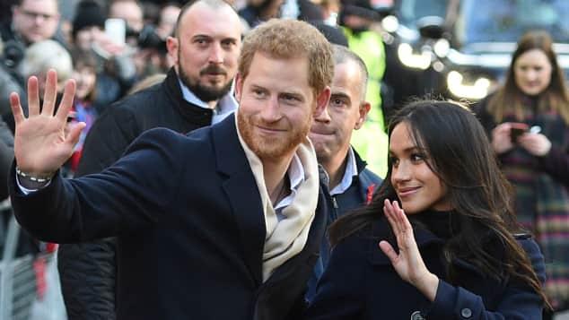 Prinz Harry und Meghan Markle bei ihrem ersten Auftritt nach Verkündung der Verlobung