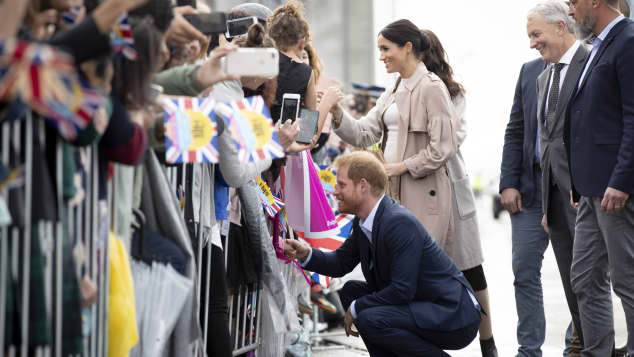 Prince Harry on a public walkabout in New Zealand