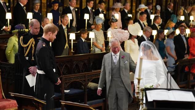 Prince Charles led Duchess Meghan down the aisle