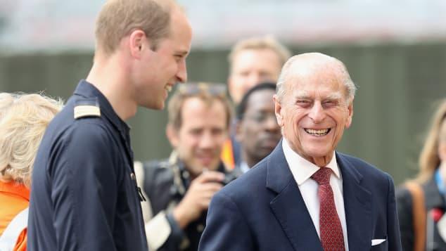 Prinz William und Prinz Philip