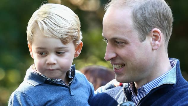 Prince William and Prince George during the Royal Tour of Canada