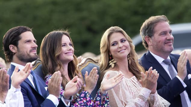 Prinz Carl Philip, Prinzessin Sofia, Prinzessin Madeleine und Christopher O' Neill