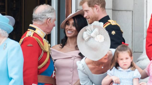 Prinz Charles, Herzogin Meghan, Prinz Harry Buckingham Palace