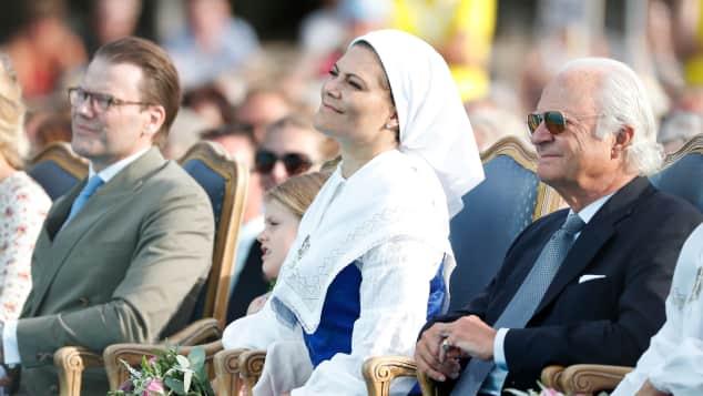 Prinz Daniel, Prinzessin Victoria und König Carl XVI. Gustaf