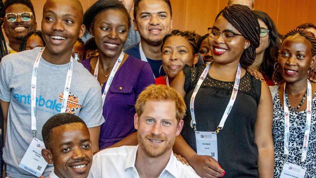 Prinz Harry auf der Aids-Konferenz