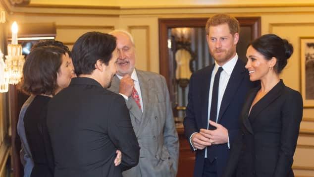 """Prinz Harry und Herzogin Meghan beim Besuch des Musicals """"Hamilton"""""""
