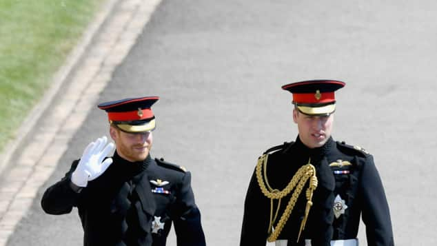 Prinz Harry und Prinz William bei Harrys Hochzeit, Prinz Harry, Prinz William