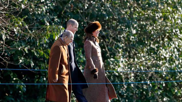 Prinz Philip, Prinz William und Herzogin Kate