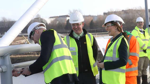 Prinz William, Herzogin Kate, Sunderland, Brücke, Einweihung