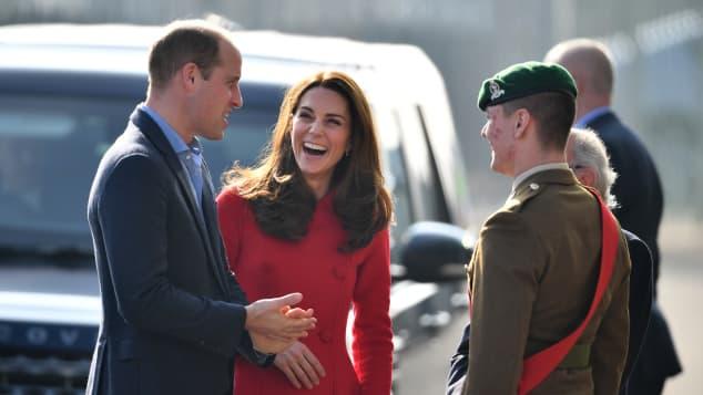 Prinz William Herzogin Kate Belfast