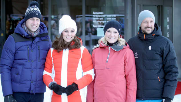 Prinz William, Herzogin Kate, Mette-Marit und Prinz Haakon in Norwegen