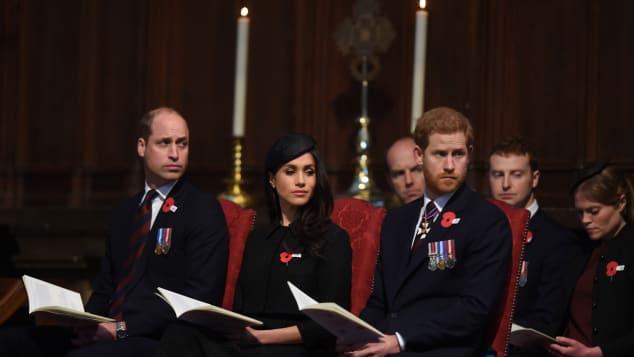 Prinz William, Prinz Harry und Meghan Markle gedenken dem ANZAC Day