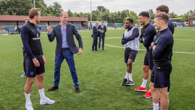 Prinz William besuchte am Donnerstag die englische Nationalmannschaft