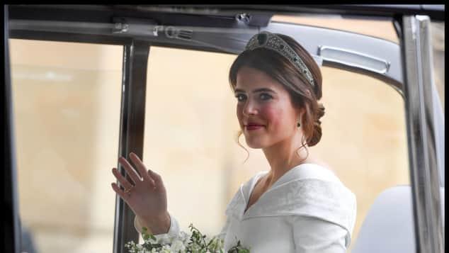 So zauberhaft sieht Prinzessin Eugenie am Tag ihrer Hochzeit aus