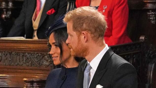 Herzogin Meghan und Prinz Harry bei Prinzessin Eugenies Hochzeit