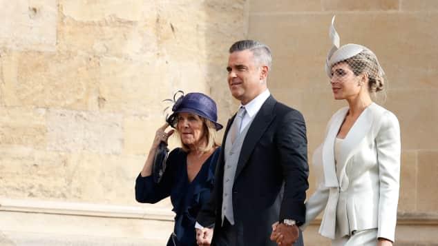 Robbie Williams und Ayda Field bei Prinzessin Eugenies Hochzeit
